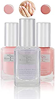 product image for Nail Polish Lady Glow - Natural Nail Polish Base Coat Set - NonToxic Nail Art | Vegan and Cruelty-Free Nail Paint (Pack of 3)