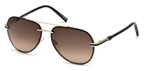 Sunglasses Montblanc MB 643 S MB 643 S 32F gold / gradient (Mont Blanc Brown Sunglasses)