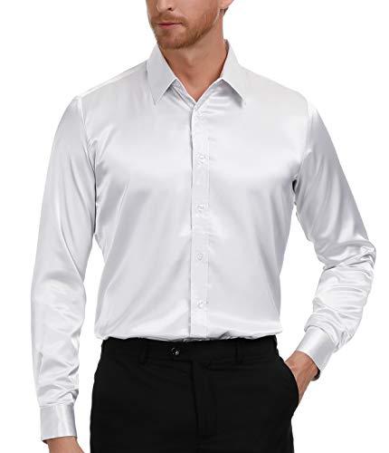 White Dress Shirt for Wedding Silky Smooth Luxury Shirt Size XL