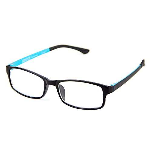 Cyxus Blue Light Blocking [Lightweight TR90] Glasses for Anti Eye Strain Headache Computer Use Eyewear, Men/Women - Can Return You Prescription A