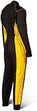 Karting Suit Speed Kart Combination 110 Bi-Couleur Noir avec Jaune
