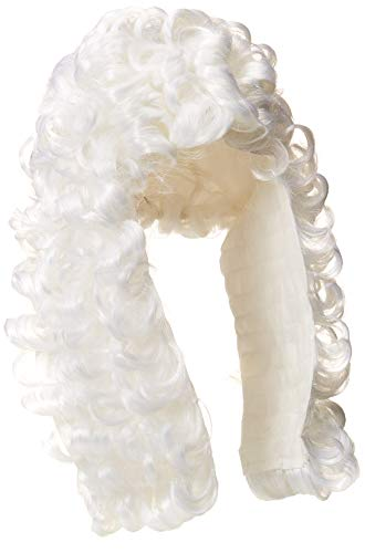 Rubie's Retro Judge Wig, White, One Size