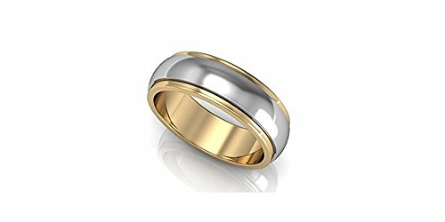 [Oceanus Tungsten Carbide 18k Rose Gold Plated 2 Tone Mens / Womens Wedding Band Ring Comfort Fit 6mm or 8mm width (8mm width Tungsten Carbide,] (Matching His And Her Costumes)