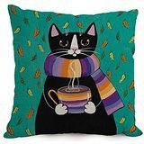 18 X 18 Inches / 45 By 45 Cm Cat Throw Pillow Case ,twin Sides Ornament And Gift To Husband,coffee House,bar Seat,couples,boys,gf