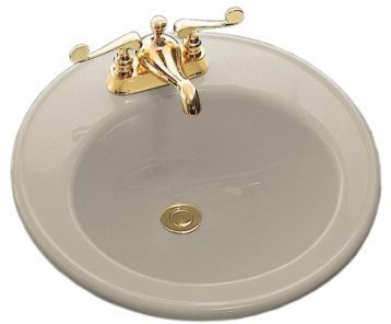 Kohler K-2202-1-G9 Sandbar BROOKLINE Brookline Self-Rimming Lavatory (Brookline Self Rimming Bathroom Sink)