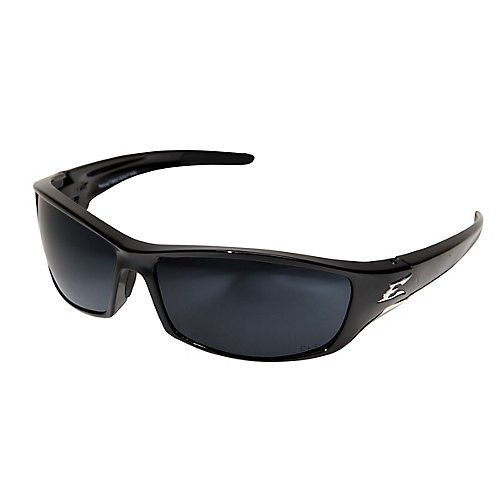 Edge Eyewear TSR21-G15-7 Reclus Safety Glasses, Black with Polarized G and 15 Silver Mirror - Edge Sunglasses