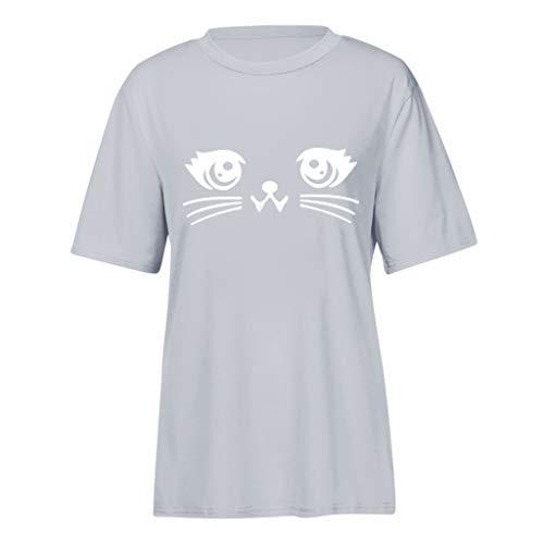 VEKDONE Tops Women Tops Tees Blouses Womens Summer Cute Print Tops Short Sleeve T-Shirts Blouse -