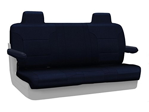 Coverking Custom Fit Rear Solid Bench Seat Cover for Select Lincoln Town Car Models - Velour (Dark Blue) ()