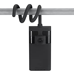 Versatile Twist Mount for Ring Stick Up Camera, Flexible Gooseneck-Like Mount – attach your camera wherever you like without tools or wall damage – by Wasserstein (Black)