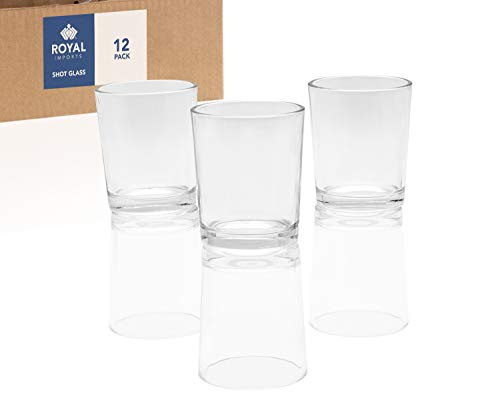(Royal Imports Candle Holder Glass Votive for Wedding, Birthday, Holiday & Home Decoration, Shot Glass, Set of 12 - Unfilled)
