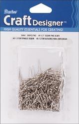 Bulk Buy: Darice Sequin Pins 500/Pkg-#8 - .5'' Silver (12-Pack) by Darice