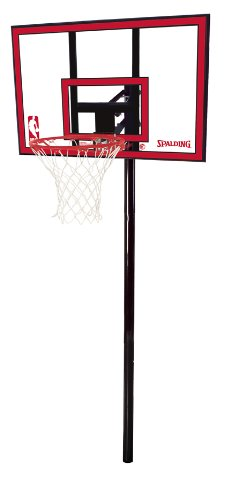 Spalding NBA In-Ground Basketball System - 44'' Polycarbonate Backboard by Spalding