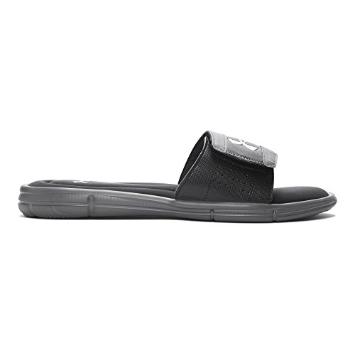 Under Armour mens Ignite V Slide Sandal, Graphite (040)/Black, 9
