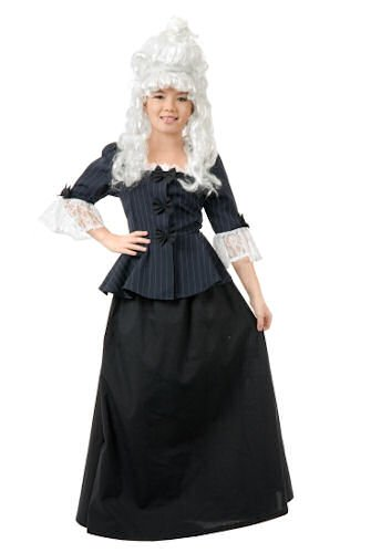 Colonial Girl Martha Washington Costume - (Colonial Costume Girl)