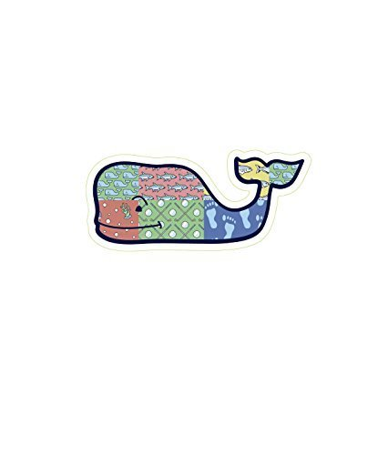 Vineyard Patch - Authentic Vineyard Vines Seasonal Whale Sports Preppy Vinyl Sticker Decal Southern Proper Sold By LOBO (Patchwork) Color: Patchwork, Model: , Outdoor&Repair Store