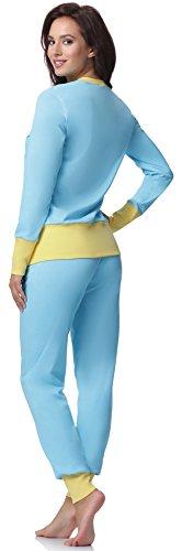 Italian Fashion IF Pijamas para mujer M007 Turquesa/Amarillo