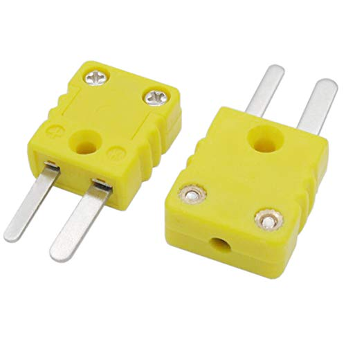- Twidec /2Pcs Yellow K Type Thermocouple Connector Adapter Plugs for Thermocouple Mini Plug Temperature Sensors