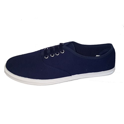 Blu Stringhe Lacci Basse Uomo Takestop® Sneakers Con Di Da Scarpe Ginnastica Tela Navy H1qBfEw