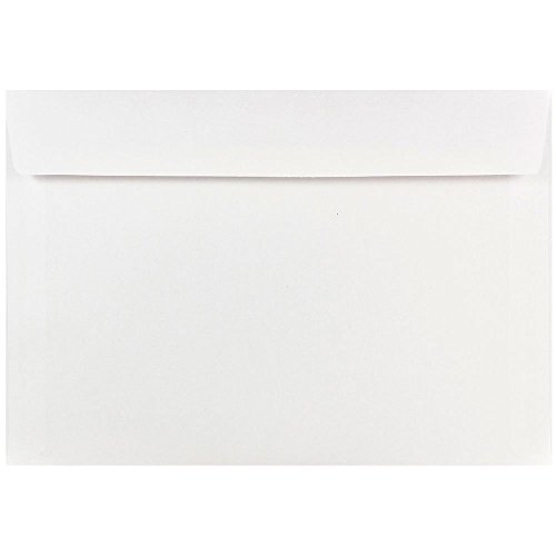 "JAM Paper 7"" x 10"" Booklet Envelope - White - 25/pack"