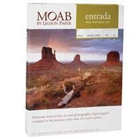 Moab Entrada Rag Natural 190 8.5x11 Double Sided, 25 Count by Moab