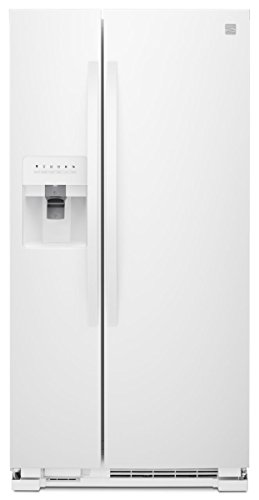 Adjustable Door Bins Interior Lighting - Kenmore 51752 21.4 ct. ft. Side-by-Side Refrigerator in White, includes delivery and hookup