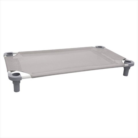 """Mahar Manufacturing 40"""" x 22"""" Pet Cot in Gray with Blue Legs, Unassembled from 4Legs4Pets"""