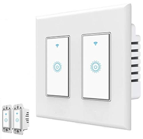 Smart Wifi Switch, Wireless Smartphone Remote Control Wall Light Switch, Compati