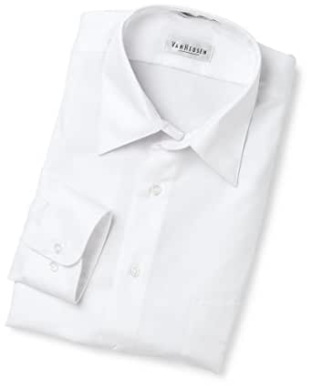 Van heusen men 39 s wrinkle free lux sateen long sleeve shirt for Wrinkle free dress shirts amazon