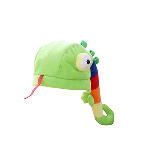 Amosfun Plush Animal Hat Caterpillar Funny Costume Hat Photo Props for Children Adults -