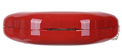 Handbag Crossbody Purse Red Lip Red Sexy Clutch Onfashion Evening Acrylic Shoulder Women's Party 7wqYnxPzI