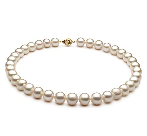 - White 10-11mm AA Quality Freshwater Cultured Pearl Necklace for Women-51 in Rope Length