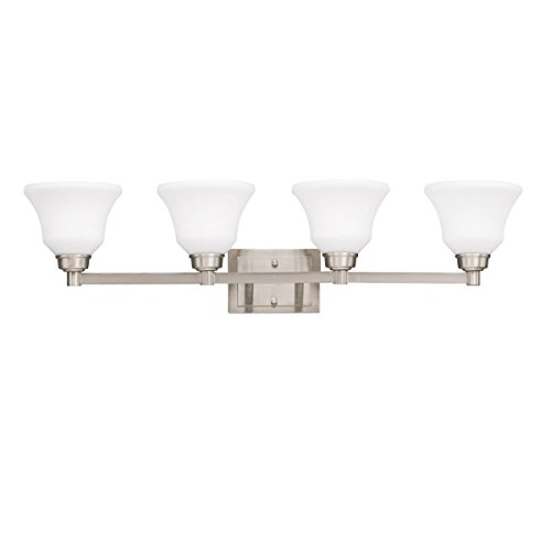 Langford Four Light (Brushed Nickel Langford 35.25in. Wide Single-Bulb Bathroom Lighting Fixture)