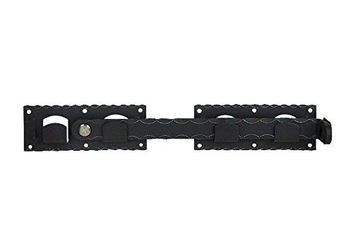 Pollmann Baubeschl/äge 3575303 Doppeltor-/Überwurf schwarz Gesamtl/änge 420 mm randgeh/ämmert