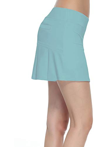 Women's Workout Active Skorts Sports Tennis Golf Skirt with Built-in Shorts Size XL (Island ()