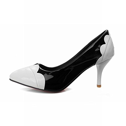 Carolbar Women's Assorted Color High Heel Stiletto Pointed Toe Court Shoes White SE3mjH