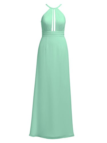 Event Green Evening Pleated Formal Chiffon Mint Halter Party Dress Alicepub Maxi Long Dress Ox7q6Zwt