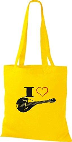 I Jaune En Love Tissu Pochette Mandoline Musique Shirtstown w4TqTC