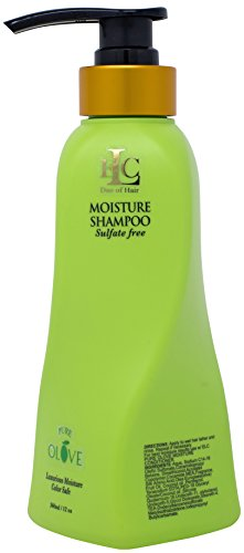 ELC Pure Olove Moisturizing Shampoo (12oz)- Sulfate Free Color Safe Shampoo Moisturizes, Nourishes, Balances & Repairs, Dry, Keratin Smoothing Treated, Multi Textured Hair.