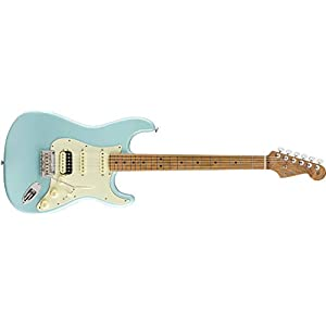 Fender Limited Edition American Pro Stratocaster HSS, Daphne Blue, Roasted Maple