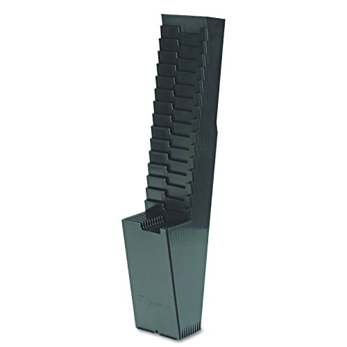 Acroprint 81-0118-000 25-Pocket Expanding Time Card Rack, Plastic, Black