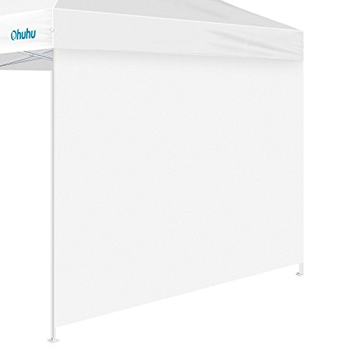 Ohuhu Sun-shade Wall for 10 by 10 FT Straight Leg Pop Up Canopy, 10' Sidewall kit (1 Panel) with Truss Straps, (Canopy Wall Kits)