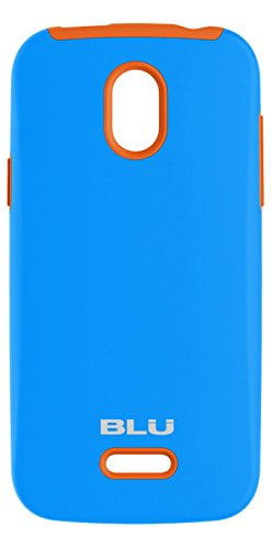 BLU ArmorFlex PC+silicon case for Neo 4.5 - Carrying Case - Retail Packaging - Blue+Neon Orange (Phone Orange Cell Blu)