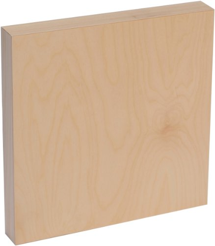 American Easel 18 Inch by 18 Inch by 1 5/8 Inch Deep Cradled Painting Panel