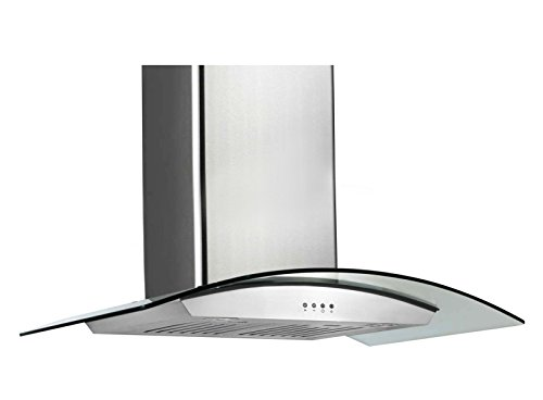 Price comparison product image Ancona Tornado II Glass Canopy 600 CFM Wall Mount Range Hood, 36-Inch
