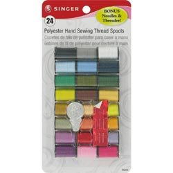 Bulk Buy: Singer Polyester Thread 10 Yard Spools 24/Pkg 0026