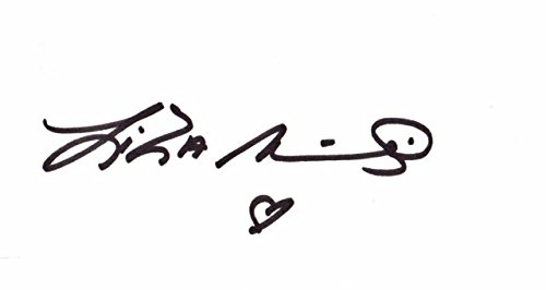 Singer Signed Autograph Card (Liza Minnelli Signed - Autographed Vintage - Early 1990's 3x5 inch Index Card - Legendary Actress and Singer - Guaranteed to pass PSA/DNA or JSA)