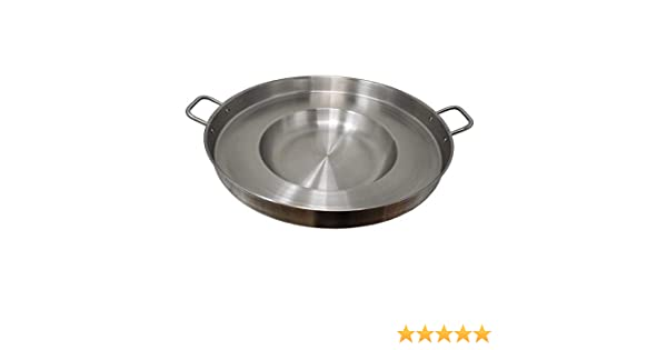 Heavy Duty Concave Comal Stainless Steel Acero Inoxidable Outdoors Cazo Griddle Fryer Chicharron Deep Frying Bowl Cookware for Stir Fry-Home ...