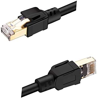 Esonbuy CAT 8 Ethernet Cable 8 Ethernet Cable RJ45 Patch Cord 25//40Gbps for Router Laptop Cable Ethernet