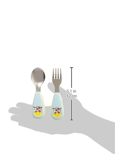 Skip Hop Toddler Utensils, Fork and Spoon Set, Monkey 252352