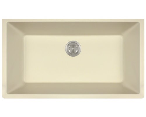 Polaris Sinks P848 Beige AstraGranite Single Bowl Kitchen Sink